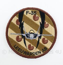 KLU Luchtmacht F35 F-35 Leeuwarden AB embleem - met klittenband - diameter 9 cm