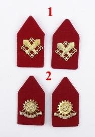 KL Kraagspiegels met rode achtergrond - 1 paar naar keuze - origineel