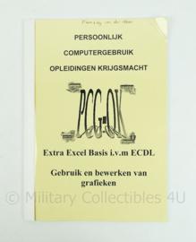 Koninklijke Marine naslagwerk - Persoonlijk computergebruik opleidingen krijgsmacht - extra EXCEL basis i.v.m. ECDL - origineel