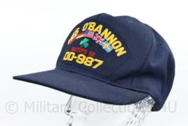 USN US Navy USS Obannon DD-987 bemanning pet - one size - CAP IO- NIEUW - origineel