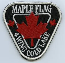 Royal Canadian Air Force RCAF - Maple Flag 4 Wing Cold Lake embleem - 9 x 8,5 cm - origineel