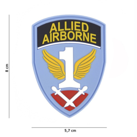 Embleem 3D PVC met klittenband - First Allied Airborne Army - met klittenband - 8 x 5,7 cm