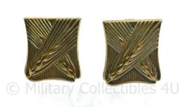 MVO schouder insigne paar  Verplegingstroepen - 3 x 2,5 cm - origineel