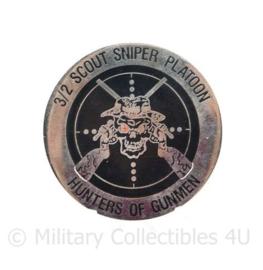 Zeldzame coin 3/2 Scout Sniper Platoon Hunter of Gunmen Reaper  - diameter 5 cm - origineel