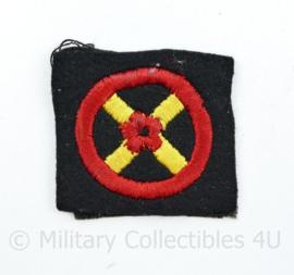 Britse WW2 Western Command Formation Sign arm badge ENKEL - 5 x 5 cm - origineel