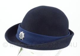 Dames Gemeentepolitie hoed - met insigne - maat 56 - origineel
