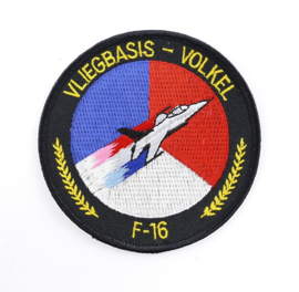 KLU Luchtmacht embleem F16 vliegbasis Volkel - diameter 10 cm - origineel