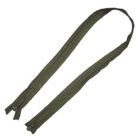 Groene militaire rits leger rits -  (aan 2 zijden te openen) - 105 cm. groen
