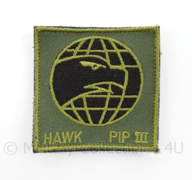 KL Landmacht en KLu Luchtmacht embleem Hawk PIP III Hawk Missiles - met klittenband - afmeting 6 x 6 cm - origineel
