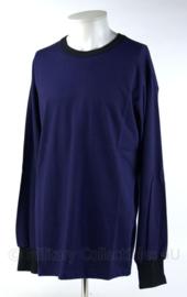Nederlands Politie shirt lange mouw - blauw - maat L - origineel