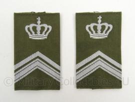 KL Landmacht GVT epauletten rang Wachtmeester 1 Instructeur - per paar - afmeting 4,5 x 8 cm - origineel