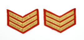 Korps Mariniers Barathea rangen paar - Sergeant - 9 x 7 cm - origineel