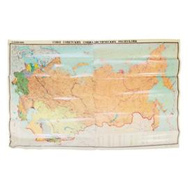 Originele Russische landkaart - 112 x 176 cm ! origineel!