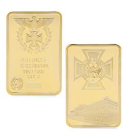 Deutsche Reichsbank replica goudstaaf klein 4,3 x 2,8 cm.