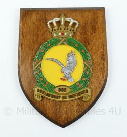 "KLU Luchtmacht wandbord - 302 squadron - Defensie Helikopter Commando - ""Doelbewust en trefzeker""- afmeting 19 x 14 x 1,5 cm - origineel"