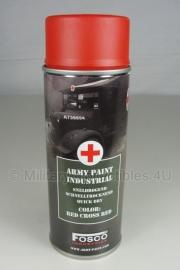 Spuitbus verf Fosco 400ml - Rode Kruis rood
