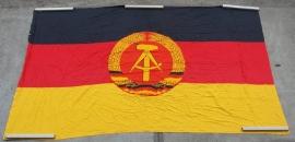 DDR Vlag Banner katoen groot - 3.33 x 2 meter - nr. 1
