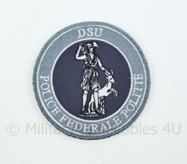 Belgische DSU Police Federale Politie embleem - met klittenband - diameter 9 cm