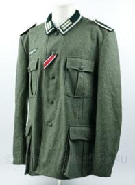 Wo2 Duits replica M36 Feldbluse Unteroffizier Infanterie met ijzeren kruis lint - maat 58 = XXL