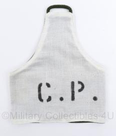 Defensie armband CP Commandopost - 24 x 20 cm - licht gebruikt - origineel