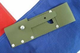 Zwitserse M57 koppeldraagstel Groen bayonet frog - origineel