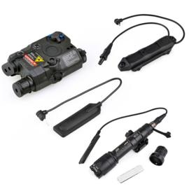 Tactical M600C ScoutLight PEQ15 laser 3-delige kit voor op wapen – ZWART