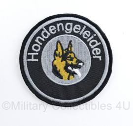 Hondengeleider embleem Black/ Grey - met klittenband -  diameter 8 cm - nieuw