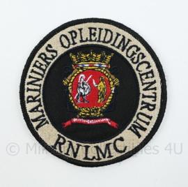 Korps Mariniers RNLMC Mariniers Opleidingscentrum embleem - met klittenband - diameter 9 cm