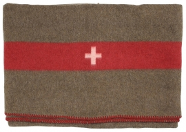 """Zwitserse leger deken - 200 x 150 cm. - replica met jaartal """"1968"""""""