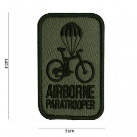 Airborne Paratrooper embleem - stof - GROEN - 8 x 5 cm