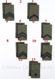KL set Rangen gevechtstenue GVT DESERT Zwart/groen - origineel