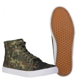 Army Sneakers met flecktarn print