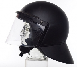 Moderne nog bruikbare ME helm / Mobiele eenheid helm - ZWART - maat 54/44 cm. - origineel