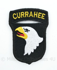"""WO2 US Army 101st Airborne Division """"Currahee"""" patch met klittenband- 8,4 x 6 cm"""
