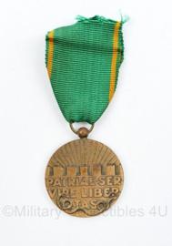 Defensie Vrijwilligersmedaille Openbare Orde en Veiligheid Patriae SER VIRE Libertas medaille - 9 x 4 cm - origineel