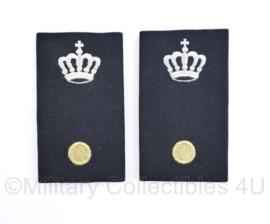 Defensie GLT Gala Tenue  epauletten Adjudant met kroon  - Adjudant onderofficier - 9 x 5 cm - origineel