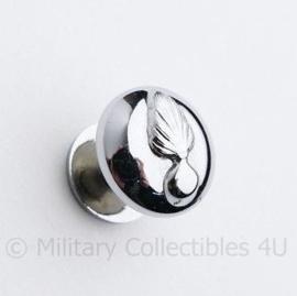 Kmar Marechaussee pet kin riem knoop met schroefdraad 13 MM  zilver - origineel