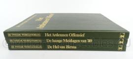naslagwerken set van 3 boeken over WO2 - Het Ardennen Offensief, De Bange meidagen en De hel van Birma