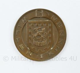 Coin Vierdaagse Nijmegen 1956 NBLO 40 jaar Willen kunnen - diameter 3,5 cm - origineel