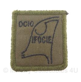 KL borstinsigne OCIO IFOCie - 5 x 5 cm met klittenband - origineel