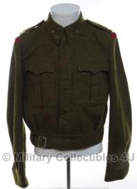 Nederlandse MVO Battledress Ike jas Kapitein/Ritmeester - regiment Johan Willem Friso -  maat 50 - origineel
