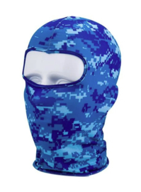 Balaclava 1 gats open - Navy Blue Digital camo