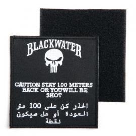 Embleem stof groot blackwater -  met klittenband