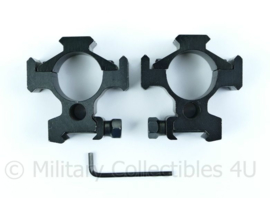 Kwalitatieve picatinny montage scope mount paar 30MM van metaal - inclusief inbussleutel - origineel