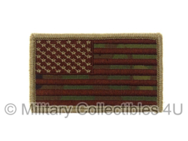 US Army American Flag met klittenband - brown thread, forward, non regulation - multicamo background
