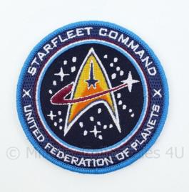 US Starfleet Command United Federation of Planets embleem - met klittenband - diameter 9 cm
