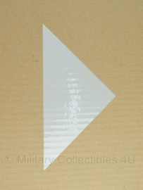 KL Reflectiedriehoek - voor op wegwijzer borden Bewijzeringsbord punt  - 20 x 10 cm. - NIEUW