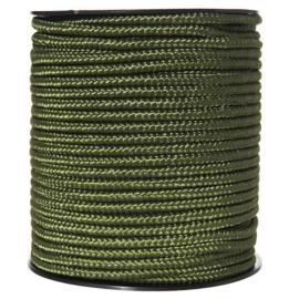 Groen TOUW op rol. 5mm  diameter en 60 meter lang