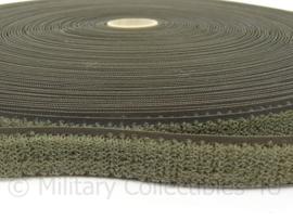 Klittenband haak-en lusband voor bijvoorbeeld naamlint - GROEN - 2 cm. breed / 50 cm. lang