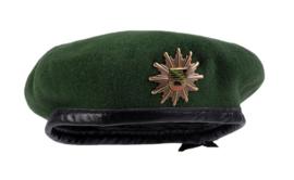 Duitse politie baret met insigne Polizei Sachsen-Anhalt - groen - maat 53 tm. 63 cm. - origineel